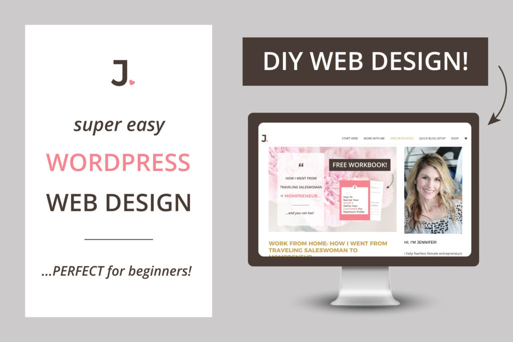 What if I told you there is a way to create and edit web pages in minutes with easy WordPress website design you can DIY? Find out how at Jennifer-Franklin.com.