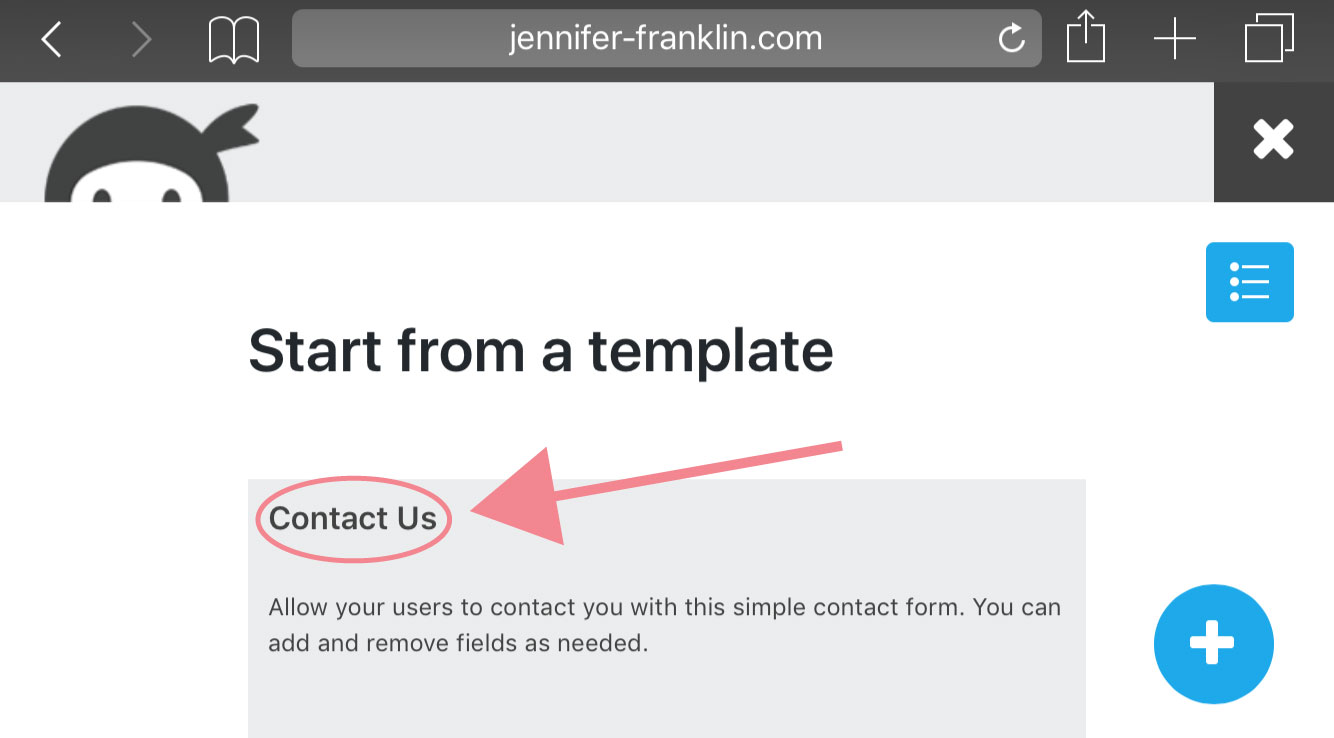 Find out how to create WordPress contact form using Ninja Forms plugin for WordPress at Jennifer-Franklin.com.