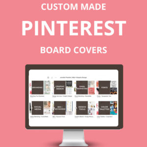 20 Custom Pinterest Board Covers using your business colors and photos that are as unique as YOU.  Are you struggling to find the time to design your own Pinterest Board Covers? I get it!  It can be challenging to try and do everything on your own. There isn't enough time in the day!  Let me whip up 20 custom Pinterest board covers for you and get ready to ROCK your Pinterest profile page! Jennifer-Franklin.com