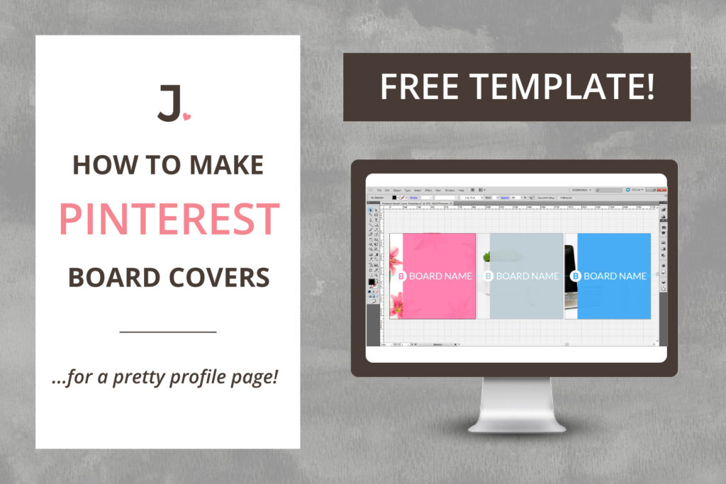How to create custom Pinterest board covers that will leave your Pinterest profile page looking amazing at Jennifer-Franklin.com.