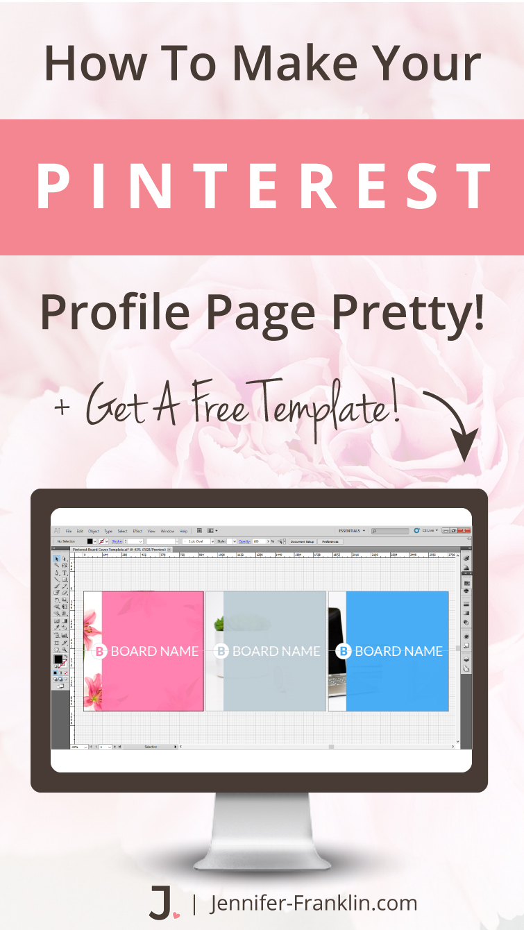 How to create Pinterest Board Cover Images to ROCK your Pinterest profile page! Pinterest Board Covers 2017, Pinterest Board Covers Design, Pinterest Board Covers How To Make, pinterest board covers to make your Pinterest profile page pretty plus get a FREE template!