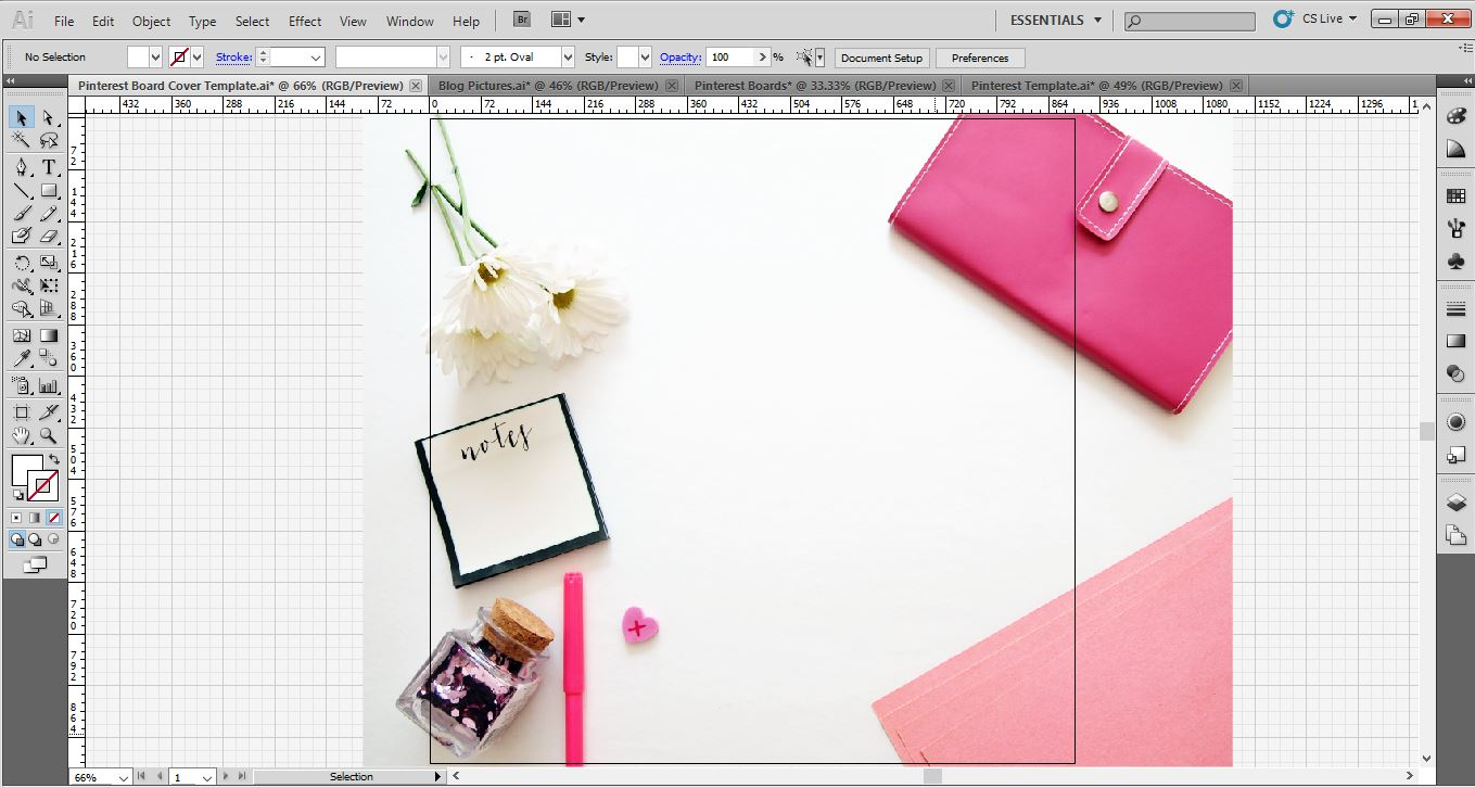 pinterest board cover image adobe illustrator background