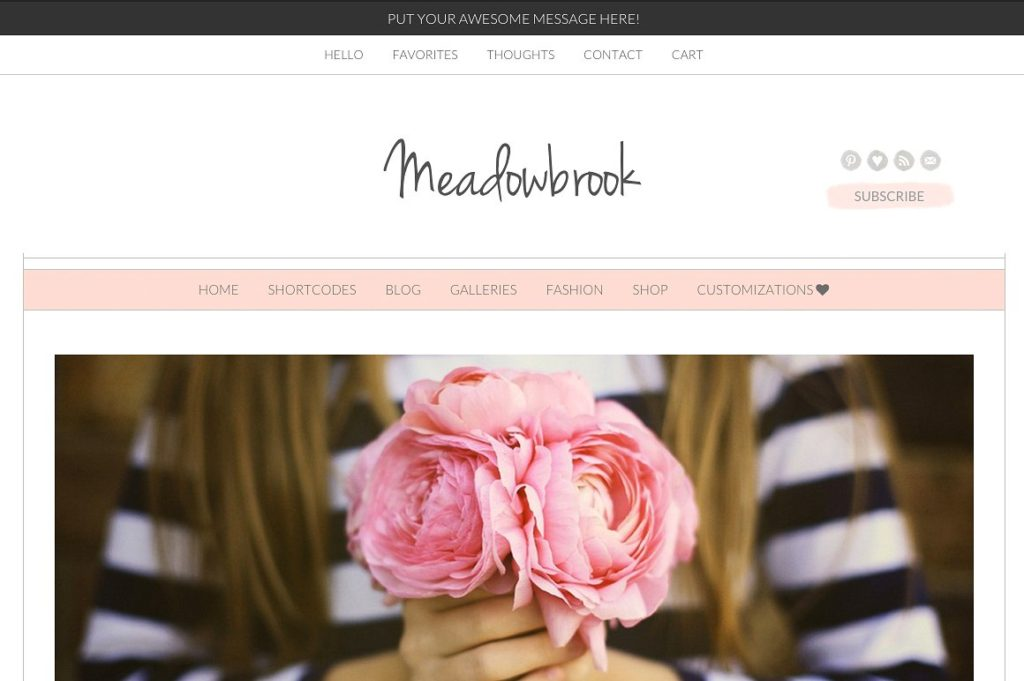 Modern WordPress theme Meadowbrook by AngieMakes with pretty blog pages at Jennifer-Franklin.com.