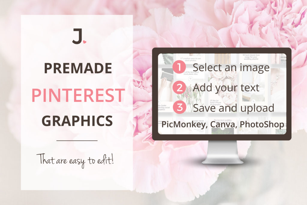 Has the daunting task of creating pin-worthy Pinterest graphics been holding you back? Today is your lucky day! I have rounded up 10  premade Pinterest graphics packs for female entrepreneurs to help you kick-start your Pinterest pinning!