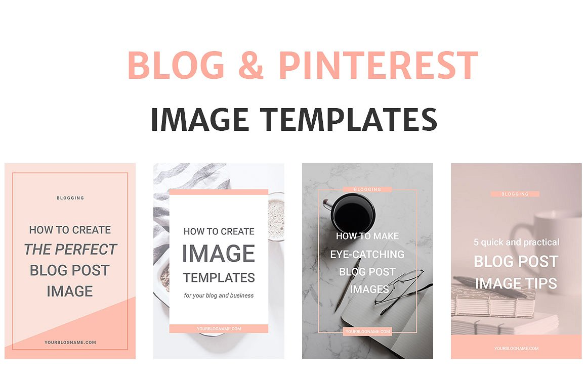 Photoshop Social Media Templates for creative bloggers.