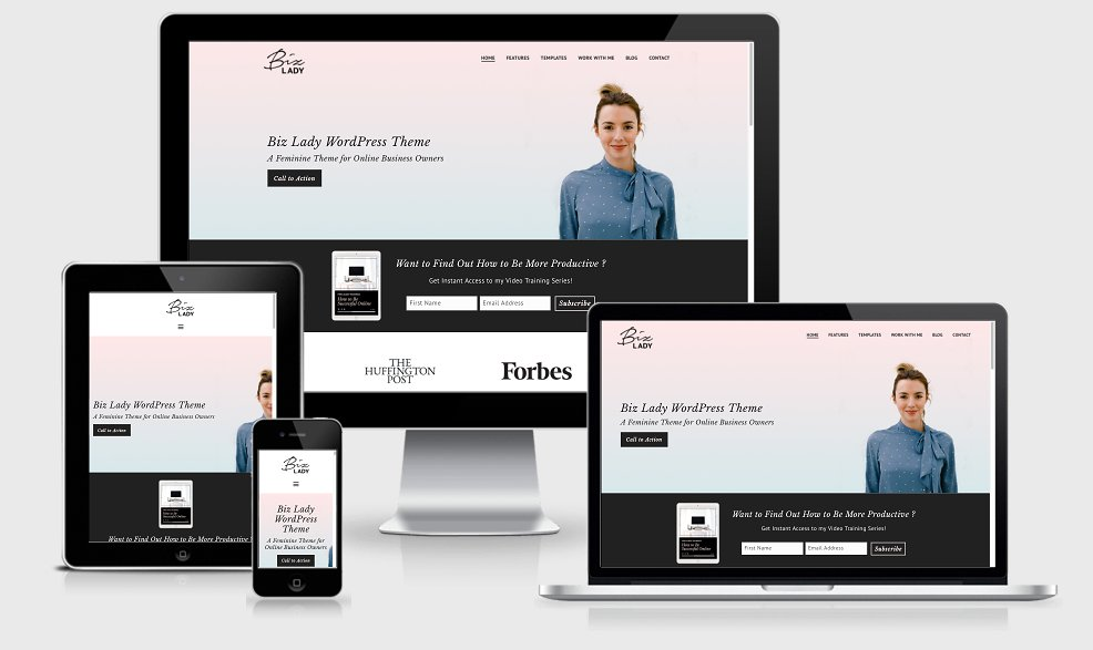 Business Ownder WordPress Theme: Biz Lady is created for freelancers, service providers, coaches. Learn more at Jennifer-Franklin.com.