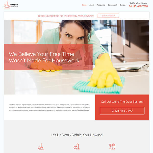 Ready Made Website | Get your professional looking cleaning service website setup in one day and ready for you to add your content at Jennifer-Franklin.com.