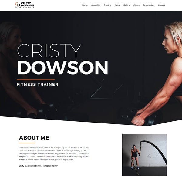 Ready Made Website | Get your professional looking fitness trainer website setup in one day and ready for you to add your content at Jennifer-Franklin.com.