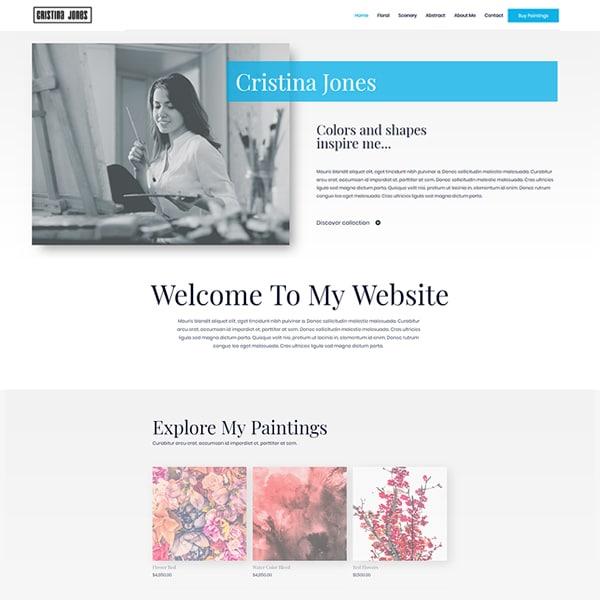 Ready Made Website | Artist eCommerce Site | Creative Entrepreneur Website | Jennifer-Franklin.com