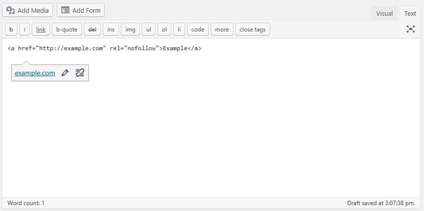 WordPress SEO | How To Add Nofollow Link | Jennifer-Franklin.com