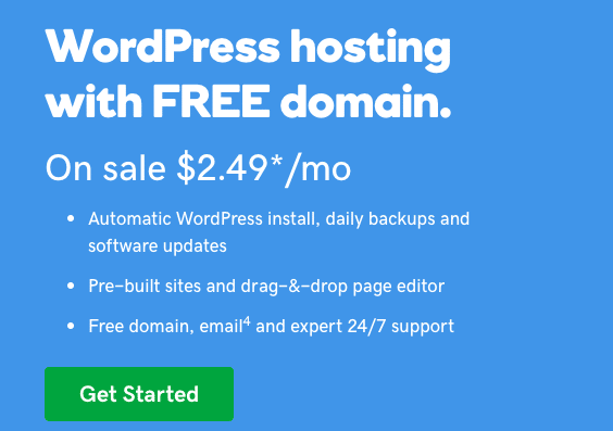 godaddy wordpress hosting with free domain | godaddy coupon codes | Jennifer-Franklin.com