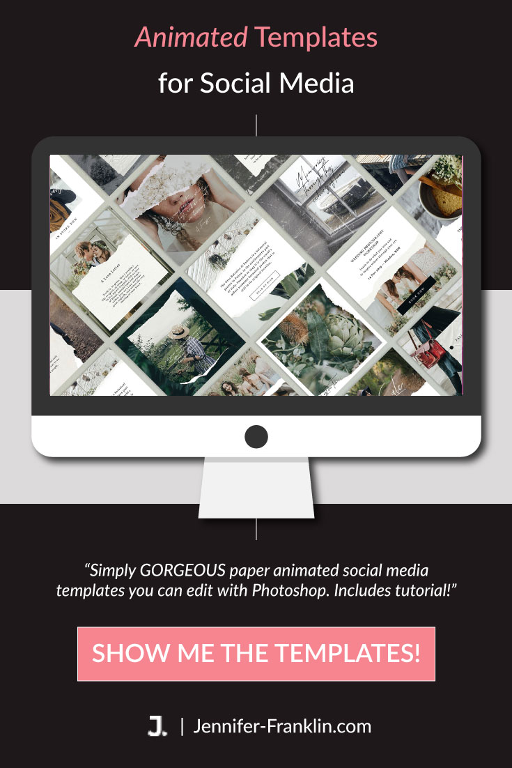 Canva Social Media Bundle: chic and modern social media designs that are easy to edit in Canva. Includes updates as new designs are added! Shop Jennifer-Franklin.com. animated social media templates, pinterest templates, social media templates, #instagramtemplates, photoshop social media templates #socialmediatemplates #instagramstories #pinteresttemplates #instagramtemplates