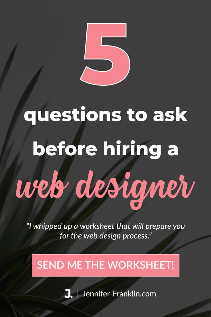 questions to ask before hiring a web designer