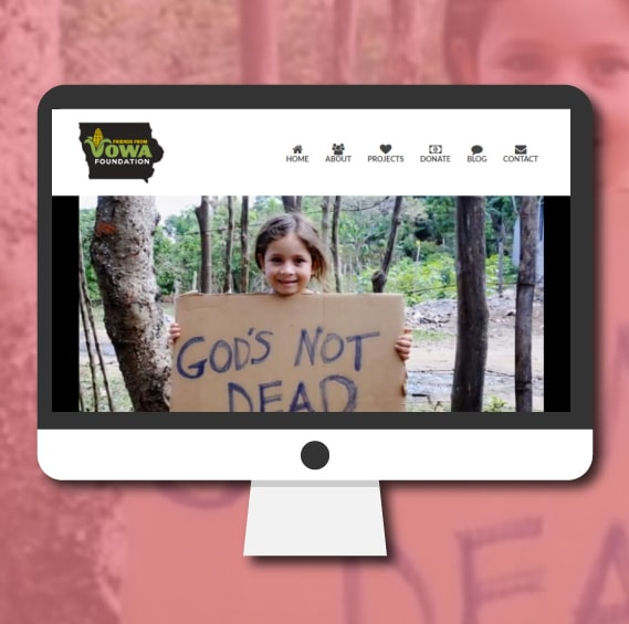 WordPress Website Design   Friends From Iowa Foundation   Non-Profit website design   Jennifer-Franklin.com